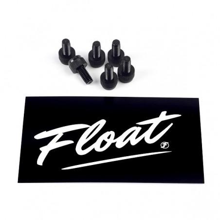 Float Fender Screw Pack – Black Brass