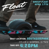 Anyone want to join us for a group ride after @mealsononewheels on the 17th at 4:20?!   After we distributing some food, playing some games and charging our wheels, we're going out on a ride around Sac Town! Come join us!   -o-  #TheFloatLife #TFL #BANGbumpers #FloatSupply #FloatOnMyFriends #Onewheel #OnewheelXR #OnewheelPint  #OnewheelCalifornia #OnewheelRider #OnewheelGang #OnewheelPlusXR #OnewheelAccessories #OnewheelNation #OnewheelTricks #FloatPlates #TheAccessoryOG #Esk8 #PEV #Esk8Squad #Esk8Riders #Esk8r #Esk8ordie #Esk8Life #DestroyBoredom